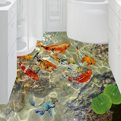 3D Fisch Fußboden