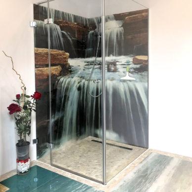 dusche mit 3D Bild
