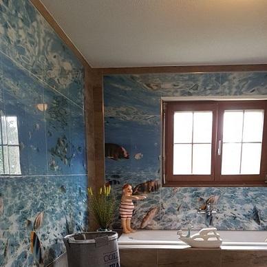 Badezimmer mit eigenem Motiv